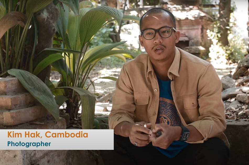 """Kim Hak talking about his work """"Alive"""" <br /> and exhibition at Photo Kathmandu in Nepal"""